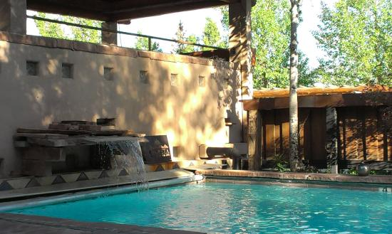 Solar Lap Pools Captivating Waterfall And Fire Feature Of Lap Pool Hot Pool Above  Picture
