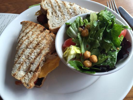 Abode Restaurant: A great lunch option...scrambler sandwich and greens