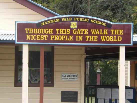 Hannam Vale public School opposite the store