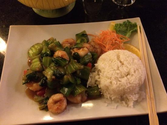 Moongate Asian Bistro: Basil shrimp!