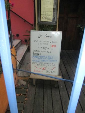 Sa Cuina : El local es acogedor. Situado en Punta Carretas, en la calle Héctor Miranda casi Bulevar.