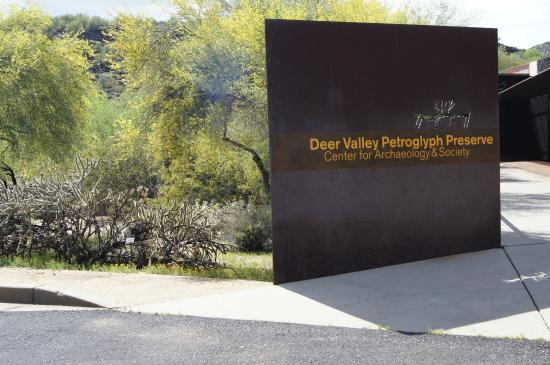 Deer Valley Petroglyph Preserve : The entry to the Center for Archaeology - Arizona State University
