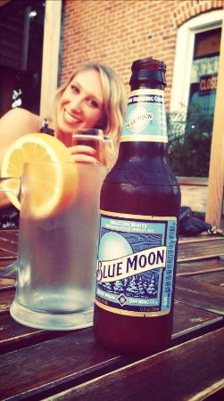 Thai House : •Classic blue moon on a Spring evening on the patio•