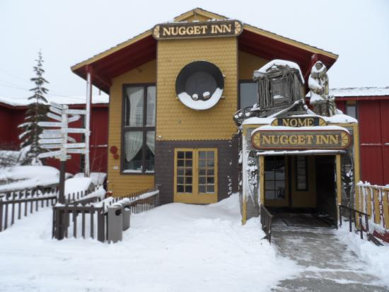 Nome Nugget Inn: The front of the Nugget Inn