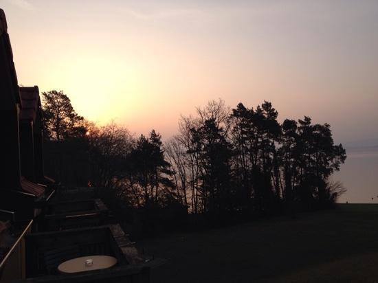 Hotel La Barcarolle: Sonnenaufgang im März 2015