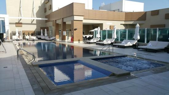 Roof Top Pool Picture Of Sheraton Grand Hotel Dubai
