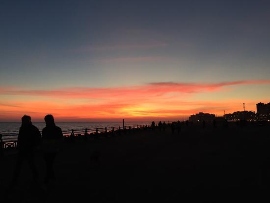 Brighton Beach : What a beautiful sunset.