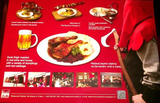 Ресторан прага меню