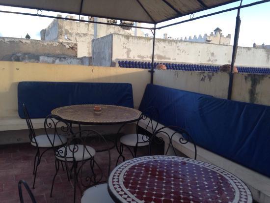 Riad Jemalhi Mogador : La terrasse sur le toit