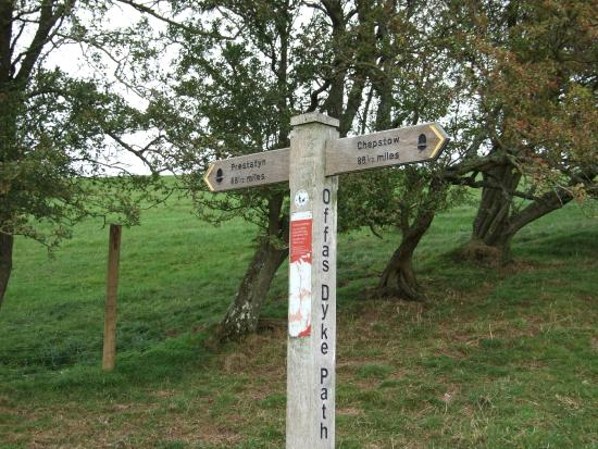 Newcastle-on-Clun, UK: Offa's Dyke - halfway!