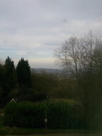 Malvern Hills Hotel: Room with a view back across Herefordshire towards Wales