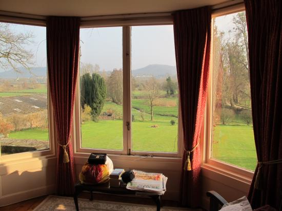 Benhall Farm: View from window of four poster room