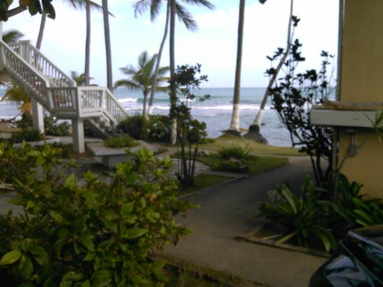 Caribe Playa Beach Hotel : from the parking lot