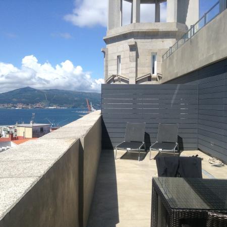 Hotel Zenit Vigo: het terras bij onze kamer