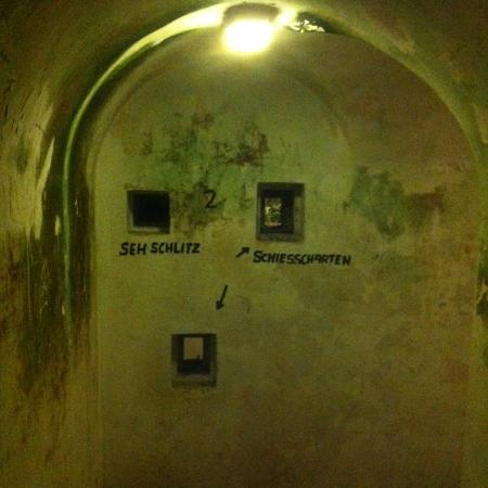 Hotel Zum Turken WWII Bunkers: inside the bunker