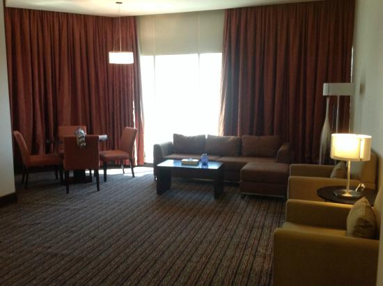 Safir Hotel Doha: Room 207 - dining area and living room