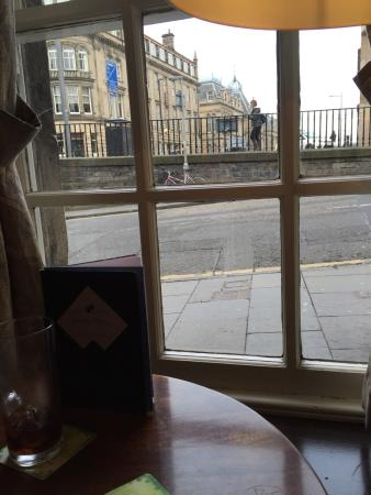Greyfriars Bobby's Bar: View outside from the bar lounge