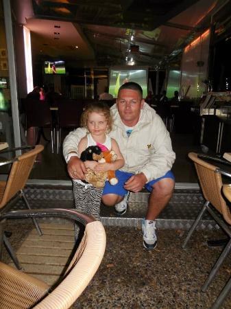 Linda's Bar: Our daughter with the lovely Dave