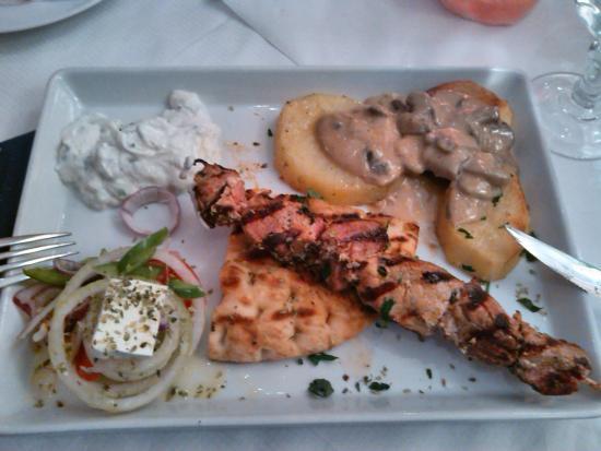 Restaurant Alexandros: Græsk tallerken