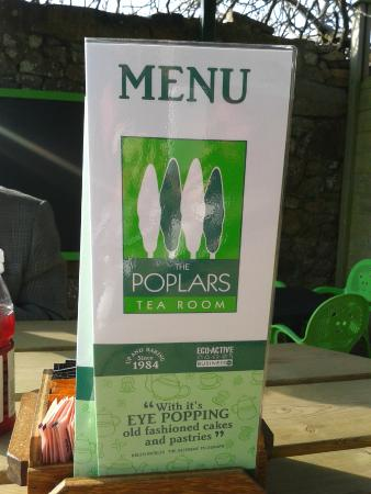 The Poplars Tea Room: A tempting selection of food and drink await!