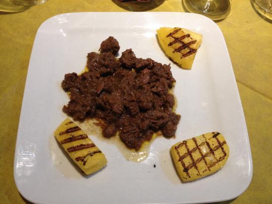 Pizzeria Petrarca Abano: Musso con polenta