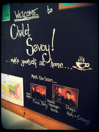 Ski & Summer Morzine - Chalet Savoy: Welcome board with some great photos!
