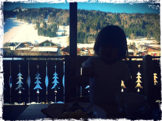Ski & Summer Morzine - Chalet Savoy: The view out of the dining room!