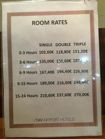 TAV Airport Hotel: The room prices! Very high!