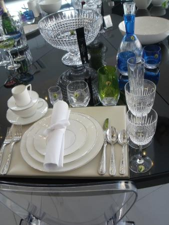 Table setting - Picture of Waterford Crystal, Waterford - TripAdvisor