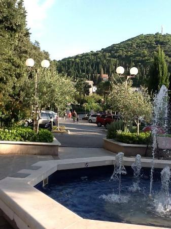 Hotel Perla: rua so para pedestres