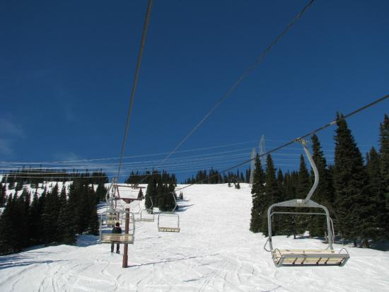 Powder King Mountain Resort: View of the chairlift in February 2015