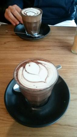 Joe Black: Hot chocolate (available with almond milk too)
