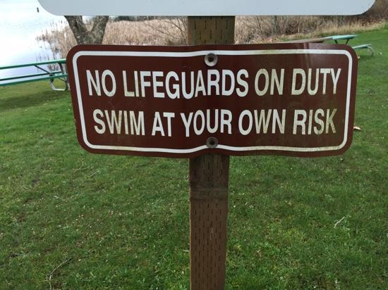 Buck Lake County Park: no life guards