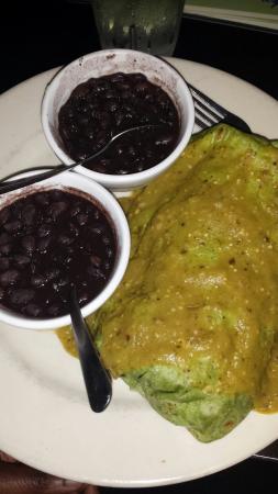 Rio Rio: Shrimp enchiladas, vegetarian burrito with black beans