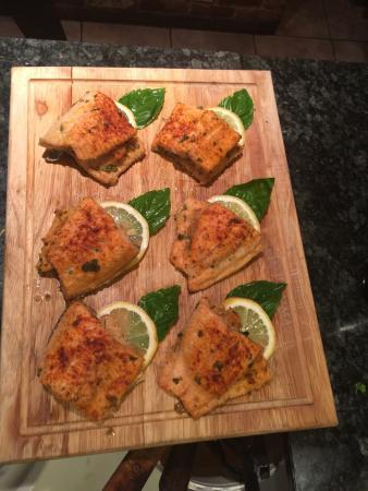 Spago Ristorante Italiano: Stuffed trout tasting!!