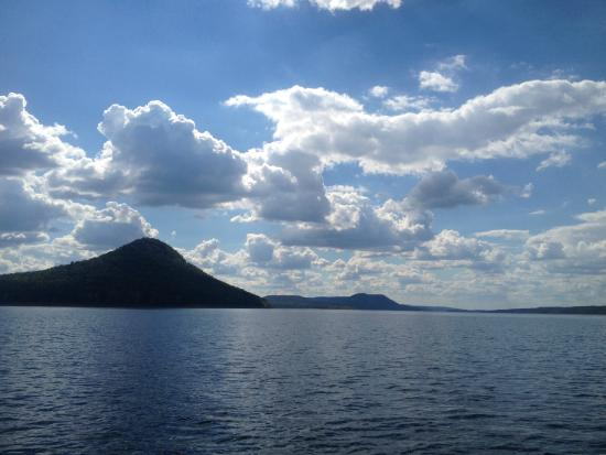 Sugar Loaf from the water on Greers Ferry Lake Beautiful Day!