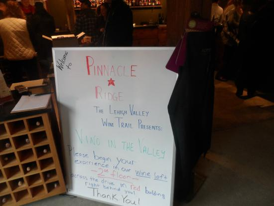 Pinnacle Ridge Winery : Notes for the Day