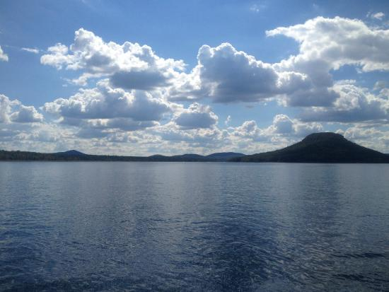 Sugar Loaf from Greers Ferry Lake. A Beautiful Day.