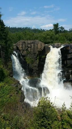 Minnesota's North Shore Scenic Drive: The falls at the boarder