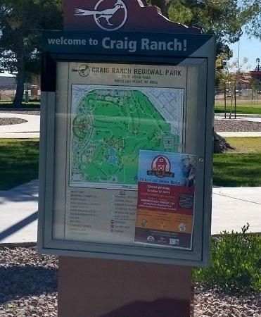 The Park Las Vegas Map.Map Of The Park Picture Of Craig Ranch Regional Park Las Vegas