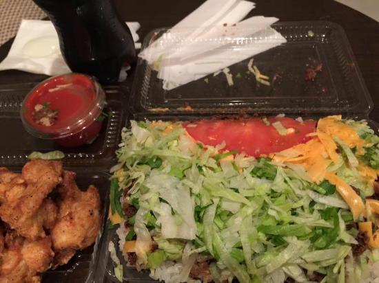 Kingtaco Yokatsu : タコライスチーズ野菜とチキンナゲット