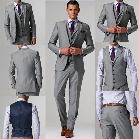 classic slim fit 3 piece suit cashmere wool - Picture of Ash ...