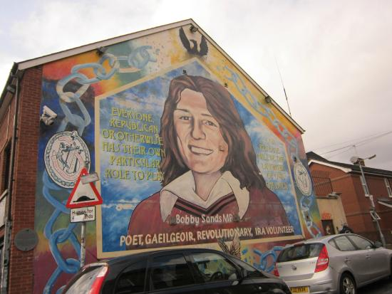 Bobby sands mural picture of taxi trax belfast for Bobby sands mural