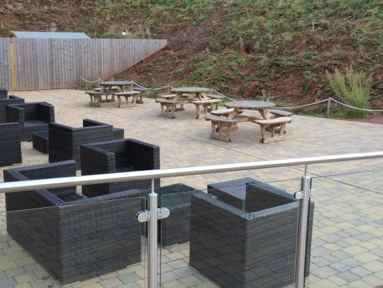 Cofton Country Holidays: Outdoor seating area