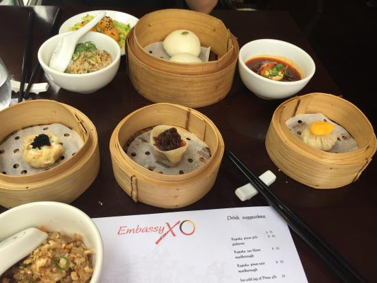 Embassy XO : Just some of the dishes offered on the yum cha banquet!