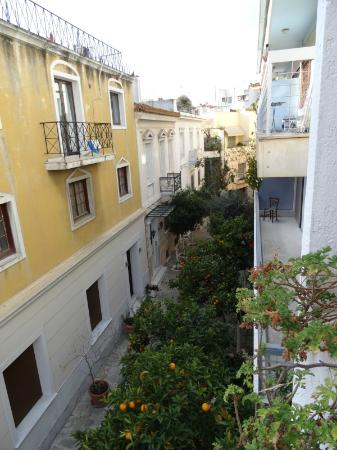 Hotel Nefeli: Vista desde la habitación