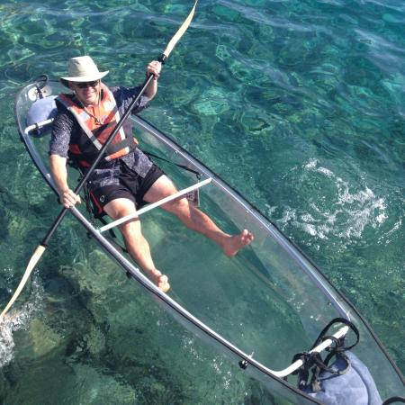 Iles des Saintes, Guadeloupe: Glass bottom kayaks- tour great to see fish and a wreck