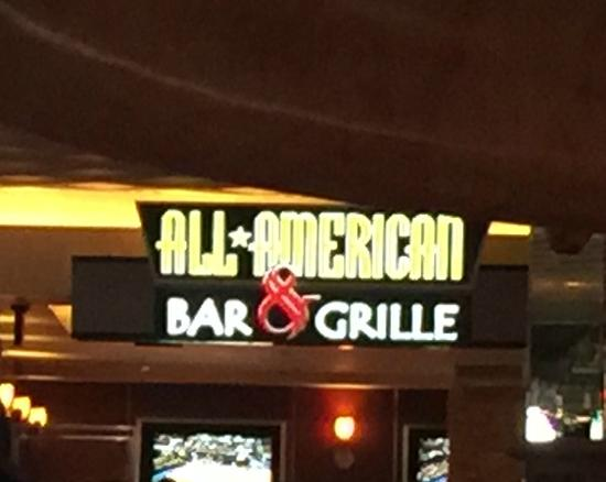 Look for the sign opposite reception picture of all american bar grille las vegas tripadvisor - American grill restaurant ...