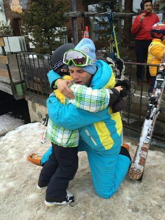 Adrenaline (ESI) Ecole de Ski Verbier : Good bye hugs !