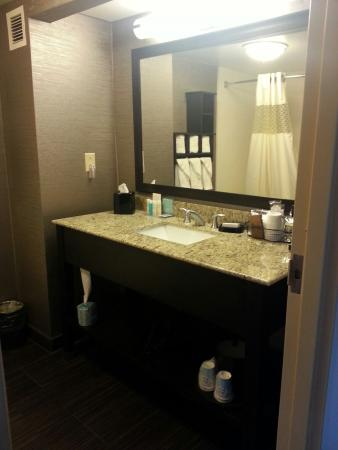 Hampton Inn Bellevue / Nashville-I-40-West: We loved the new rooms! Nice to have a desk in our double queen room